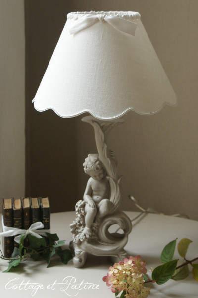 Cottage et Patine lampe ref 4.14 chérubin (0)