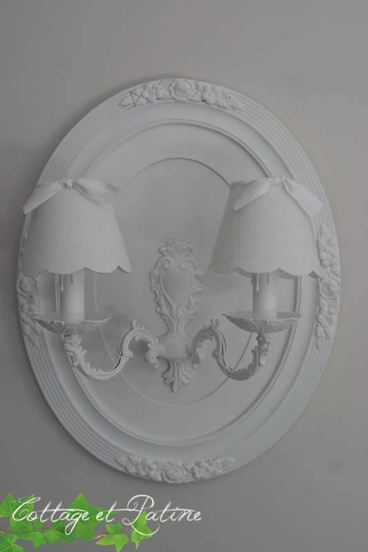 création luminaire immaculée de blanc