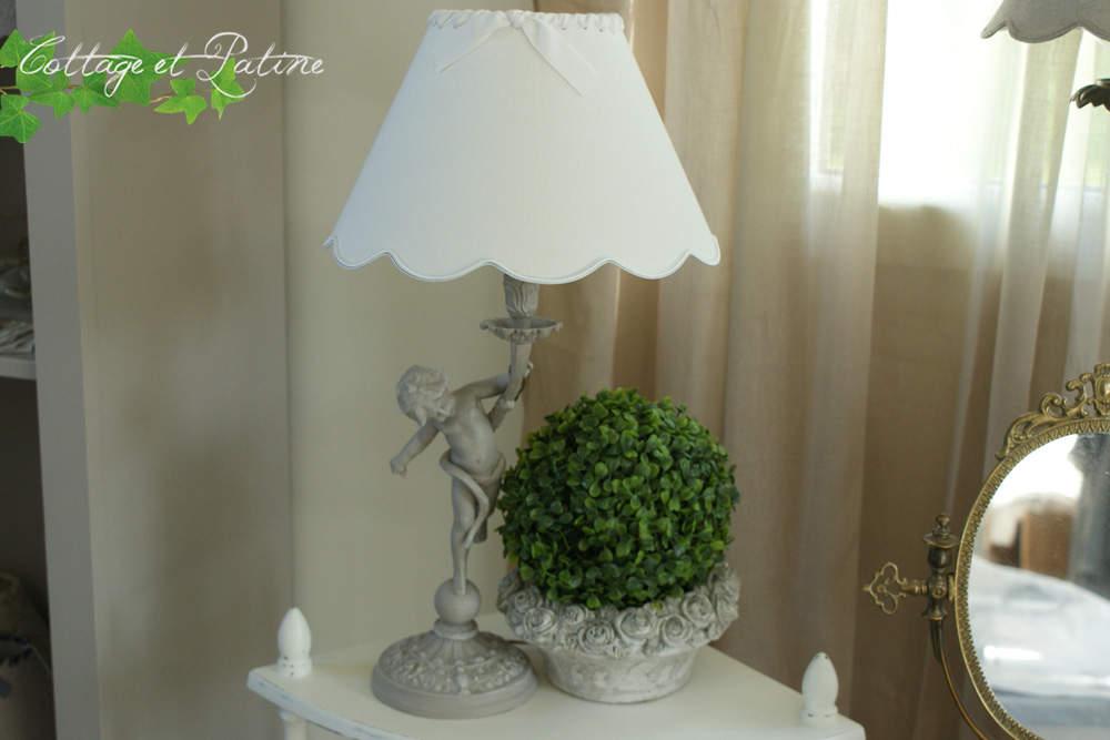 Lampe Chérubin en bronze patinée – réf 4.12.2