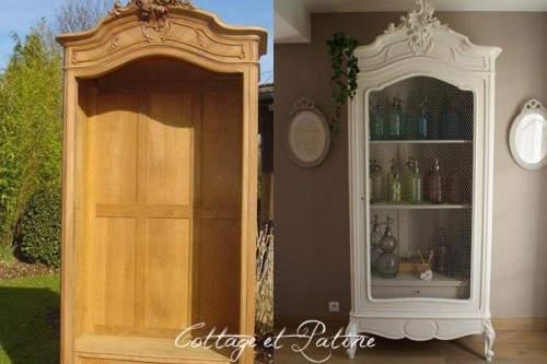 avant apr s d 39 inspiration relooking de meubles cottage et patine. Black Bedroom Furniture Sets. Home Design Ideas