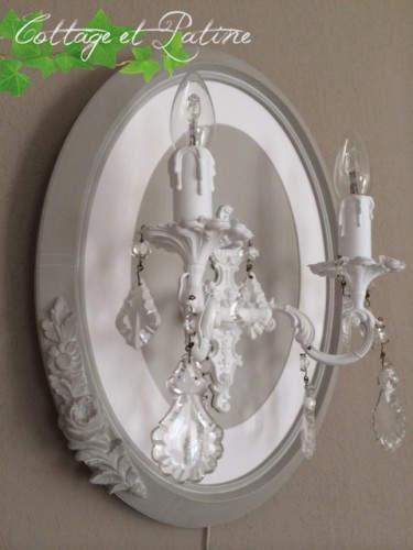 Création luminaire ovale lin/option fil