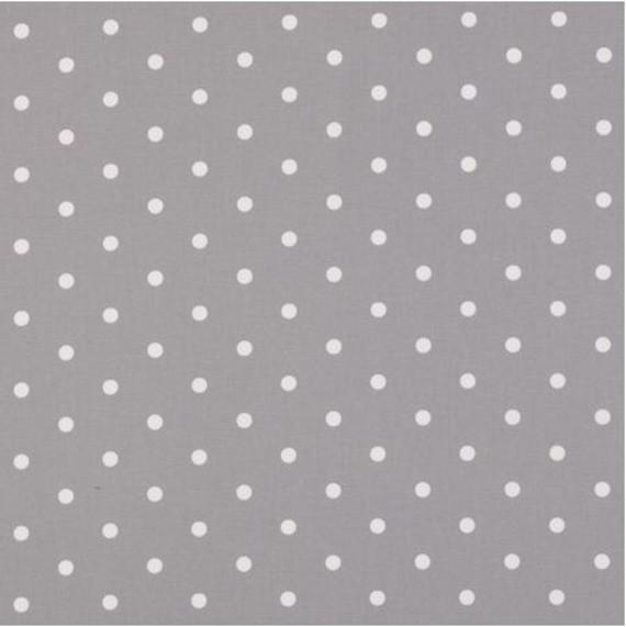 tissu gris perle pois