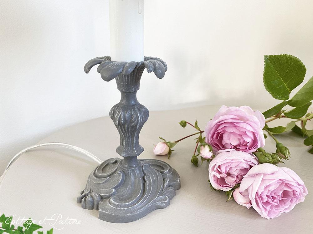 lampe en bronze ref 3.01 relookée et patinée Cottage et Patine