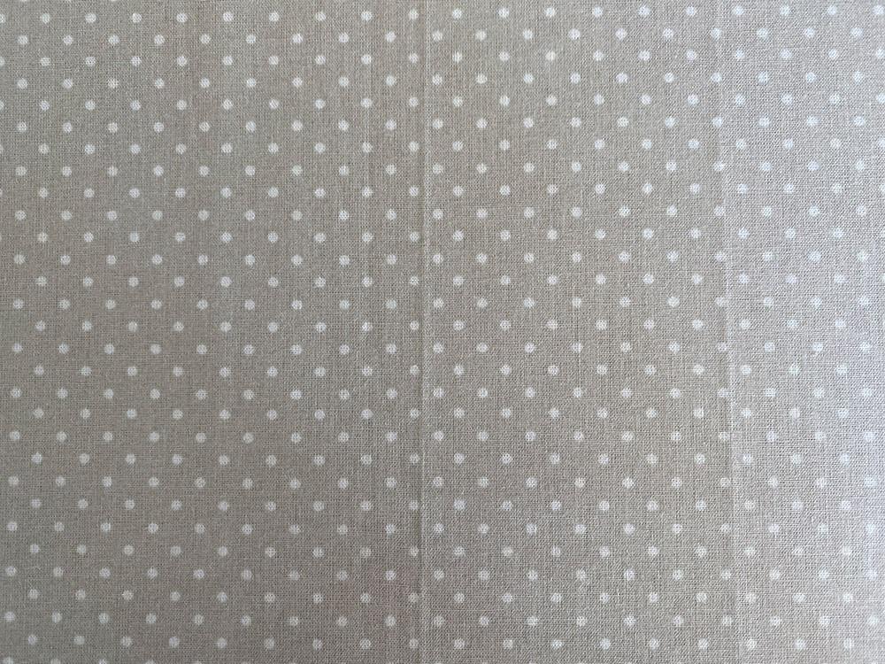 Tissu Gris lin plumetis - Abat-jours faits mains selon vos goûts