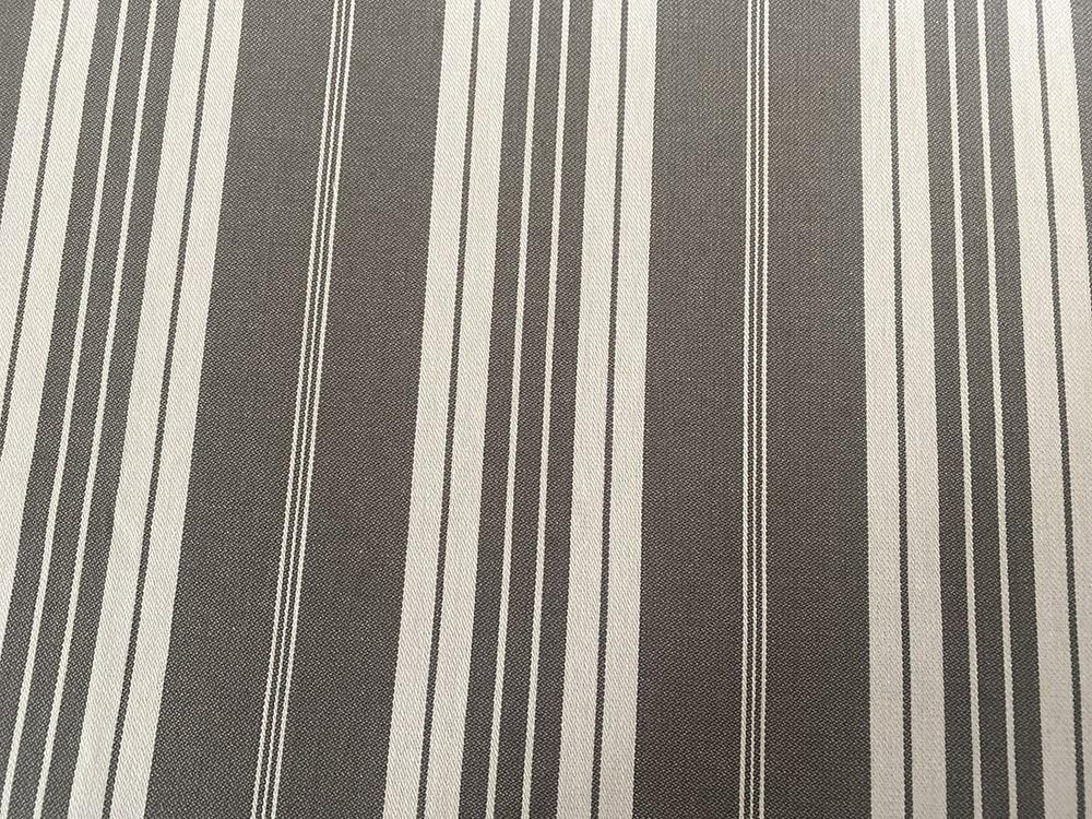 Tissu toile de matelas antracite et blanc - Abat-jours faits mains selon vos goûts