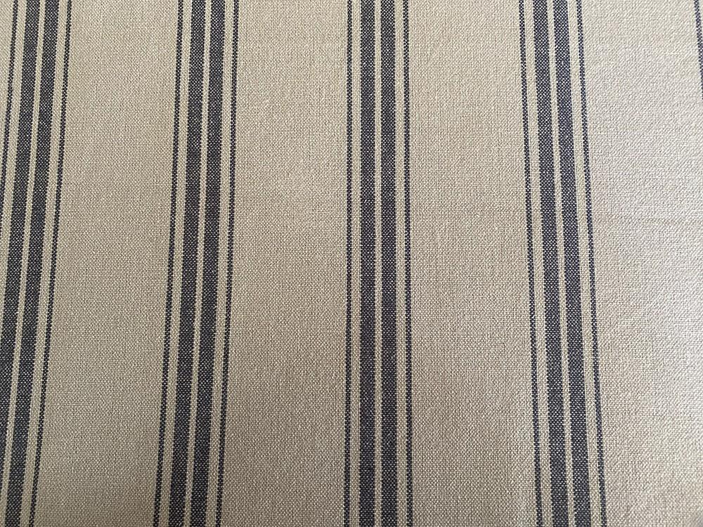 Tissu toile de matelas ficelle et antracite - Abat-jours faits mains selon vos goûts