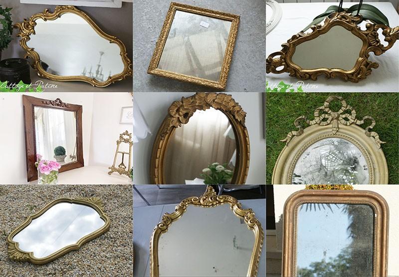 Miroirs patinés selon vos goûts