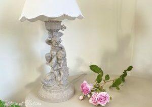 lampe Chérubins ref 4.15 relookée et patinée Cottage et Patine